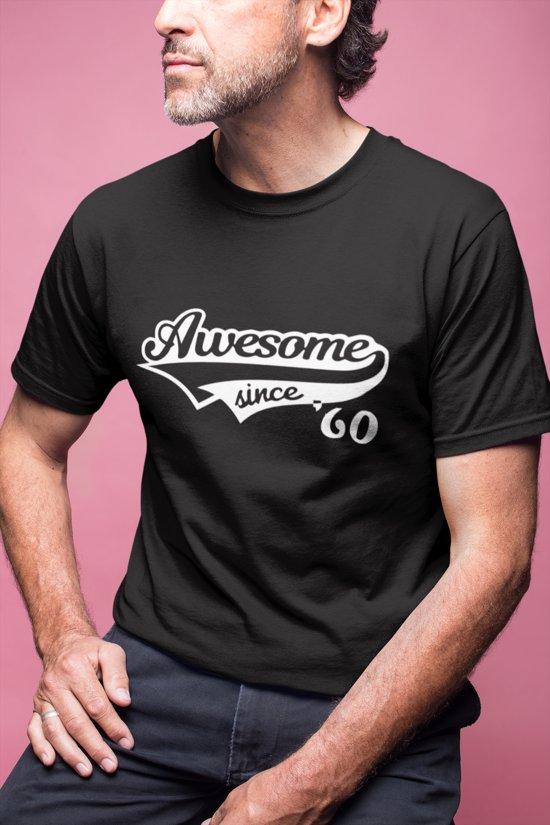 60 Jaar T Shirt Awesome Since 1959 Kado Tip Heren Vrouwen Cadeau Verjaardag Maat S