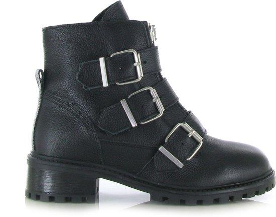 stoere zwarte dames laarzen