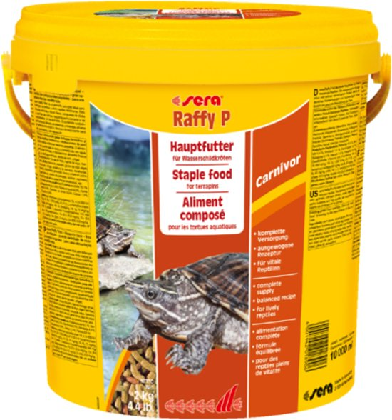 Sera Raffy P - 3800ml - Reptielenvoer voor waterschildpadden