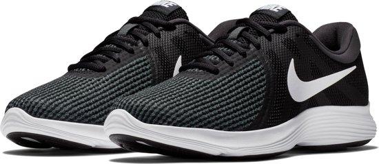 Nike Revolution 4 EU Sneakers Dames - Black/White-Anthracite - Maat 38