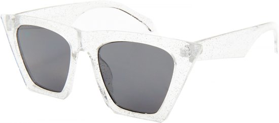 Kost Zonnebril Vlinder Glitter Dames Transparant Zilver/smoke