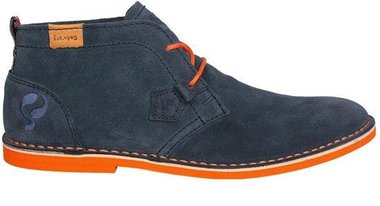 Quick Sorano Dark Denim Orange heren schoenen (Q9051038114) Maat 41
