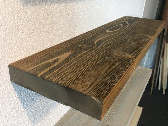 Zwevende Plank Hout.Bol Com Zwevende Houten Wandplank Boekenplank Barnwood Rustiek
