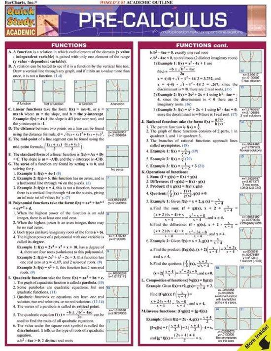 Bol Pre Calculus Ebook Barchartsinc 9781423212324 Boeken