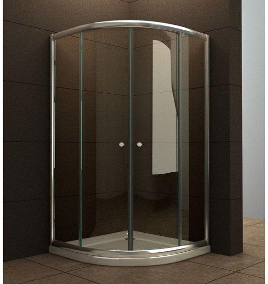 Douchecabine Halfrond 80 X 80.Wiesbaden Eco Douchecabine Kwartrond 80 X 80 X 190 Cm 5 Mm Helder Glas