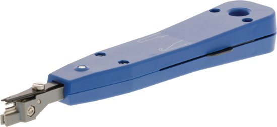 LSA punch-down tool for LSA krone and strips blue