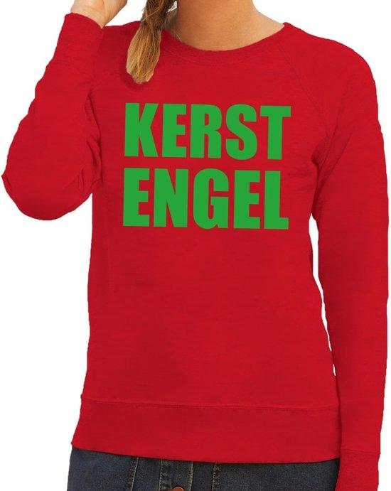 Kersttrui Dames Rood.Bol Com Foute Kersttrui Sweater Kerst Engel Rood Voor Dames
