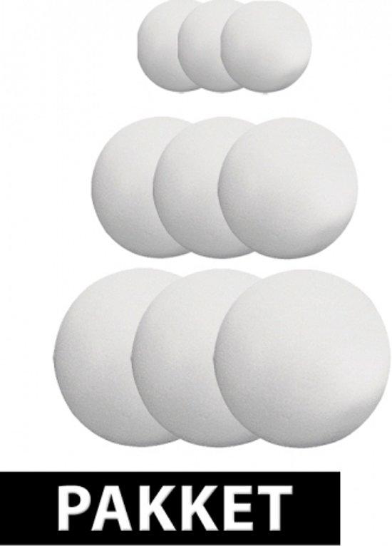 Piepschuim ballen pakket 9 stuks