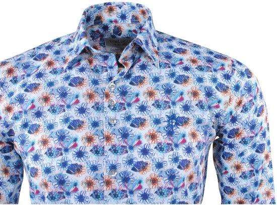 Bloemen Overhemd.Wit Ferlucci Heren Bloemen Overhemd Blauw Calabria Qi8irwo