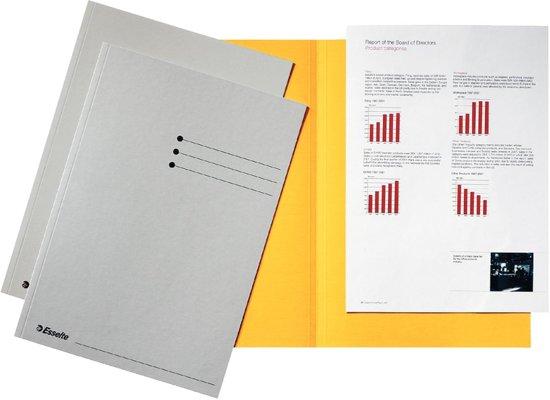 3x Esselte dossiermap grijs, karton van 180 g/m², pak a 100 stuks