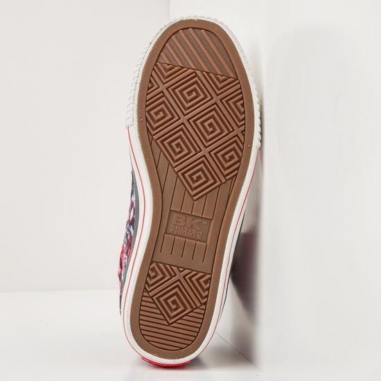 Sneakers HoogRed40Polyester Dames British Knights Dee 76IbfgyvmY
