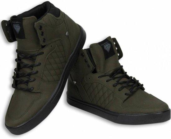 2669e19382f Cash M Heren Schoenen - Heren Sneaker High - Jailor Khaki - Maten: 43