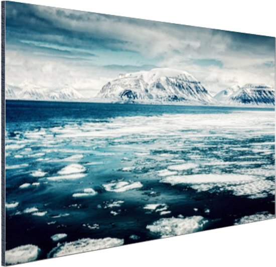 Uitzicht gletsjer Aluminium 120x80 cm - Foto print op Aluminium (metaal wanddecoratie)