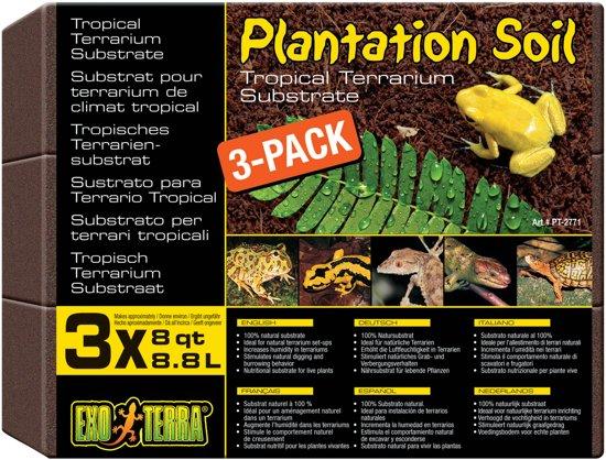Exo Terra Subtraat Plantion Soil - 3 x 8.8L