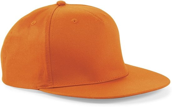 Snapback Rapper Cap - Beechfield - Orange