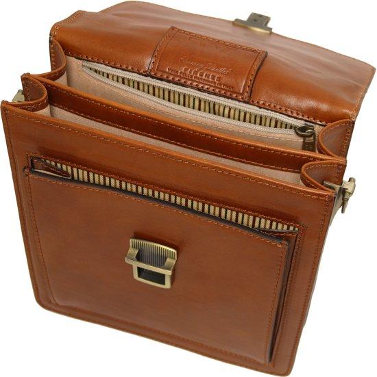 Lederen Formaat Tuscany TasDavid Leather Bruin Klein Heren Tl141425 Crossbody XiulZTwOPk
