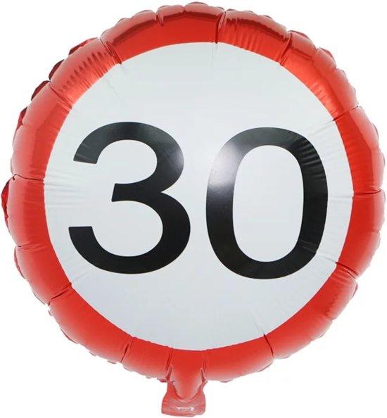 Folieballon verkeersbord 30 45 cm Valentinaa