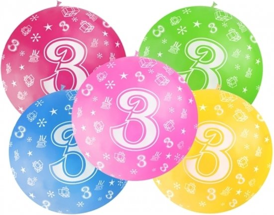 Bol Com Mega Ballon 3 Jaar Licht Blauw Verjaardag Versiering