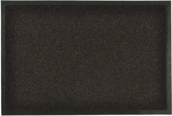 Modern effen deurmat Green & Clean - bruin 90x150 cm