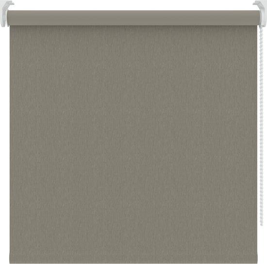 Rolgordijnen - Warmgrijs structuur - Verduisterend - 150x190 cm