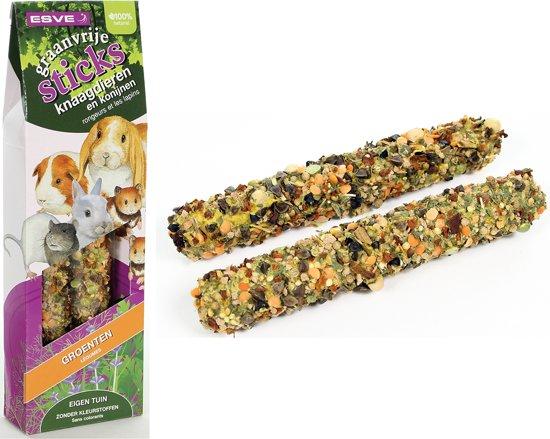 ESVE Graanvrije Sticks - Groenten - Knaagdieren en Konijnen - 2 x 135 gr