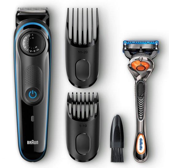 Braun BT3040 Zwart/Blauw - Haartrimmer En Baardtrimmer