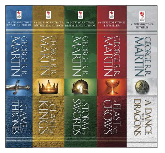 Boek cover Game of Thrones: A Song of Ice and Fire ebook collection (1-5) van George R.R. Martin (Onbekend)