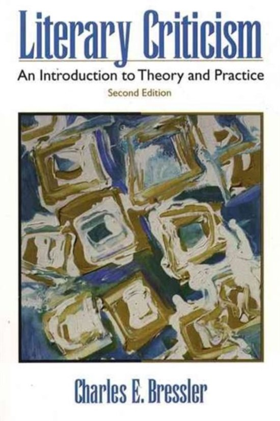 a literary analysis of literary criticism by charles bressler So far i have yet to find a better introduction to literary theory than charles e bressler's literary criticism: an introducction to theory and practice.