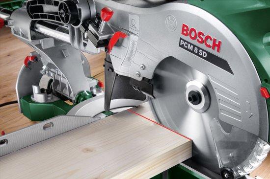 Bosch PCM 8 SD afkortzaag - 1200 Watt - Met trekfunctie en dualbevel-functie