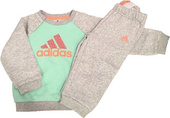 357ea31624f bol.com   Adidas Baby Trainingspak - IJsgroen/Grijs - Maat 80