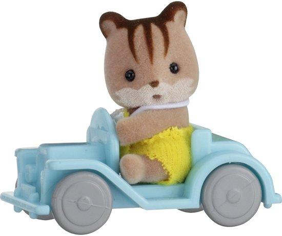 Sylvanian Families 5203  Baby Draagdoosje (Eekhoorn Op Auto)   - Speelfigurenset