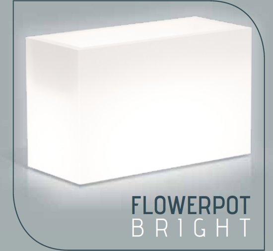 monacis verlichte bloempot 80x35xh50 cm flowerpot bright led multicolor