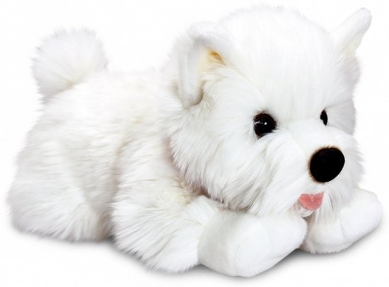 Pluche witte Terrier hond knuffel 35 cm
