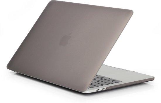 Macbook Pro (2016 / 2017 / 2018) 13,3 inch Premium bescherming matte hard case cover laptop hoes hardshell + dust plugs |Grijs / Grey|TrendParts|(A1706/ A1708 / A1989)