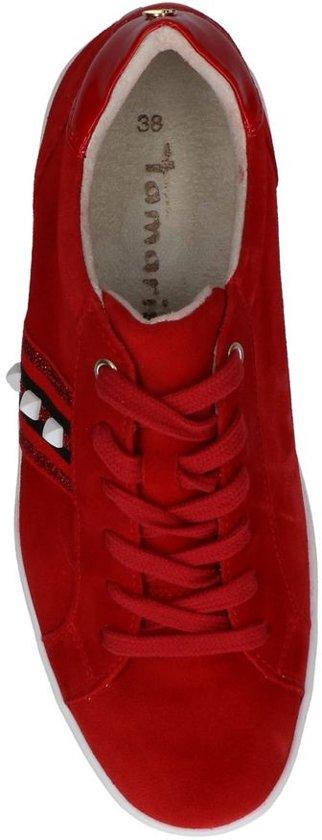 Sneakers Studs Met Rode Rode Tamaris ARq3jc54SL