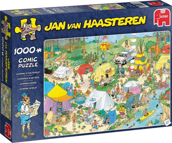 Afbeelding van Jan van Haasteren legpuzzel Kamperen in het Bos Puzzel 1000 Stukjes speelgoed
