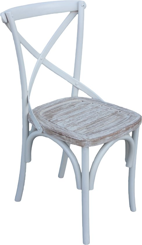 White Wash Eettafel Met Stoelen.Bol Com Stoel Cross Ral Wit White Wash 40 43 90 Houten Eetkamerstoel