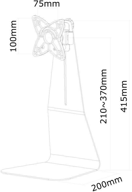 NewStar Bureausteun FPMA-D850 Zwart