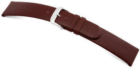 Rios1931 Horlogeband -  Classic Bordeaux - Leer - 16 mm