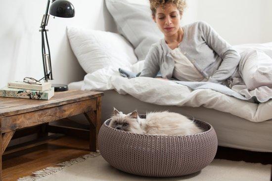 Curver Cozy Pet Bed Kattenmand - Ø 50 cm - Lichtblauw