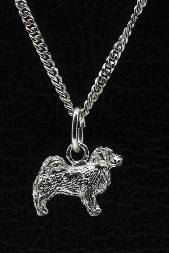 Zilveren Tibetaanse mastiff ketting hanger - klein