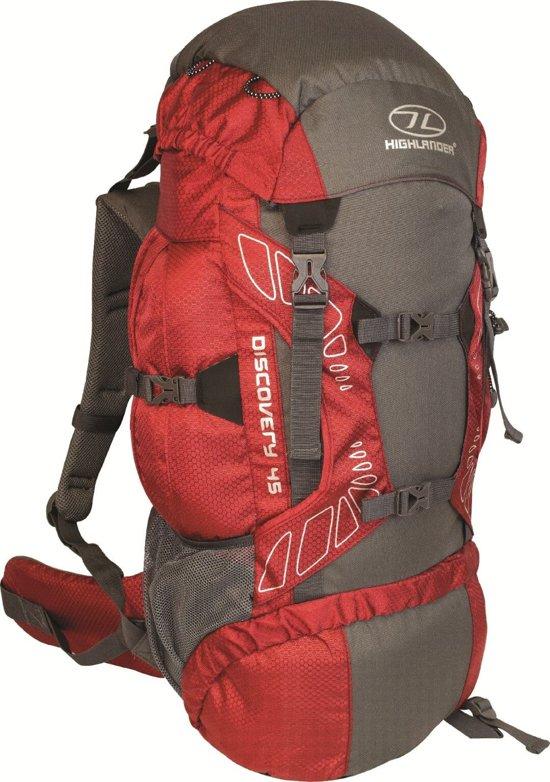 907592107f0 bol.com | Highlander Discovery - Backpack - 45 Liter Rood-Grijs