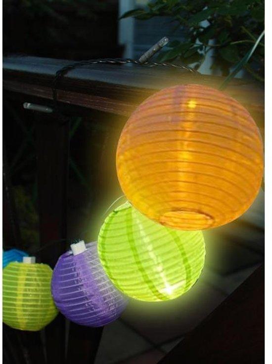 bol.com | Slinger 10 Chinese lampions op zonne-energie - set van 2 stuks