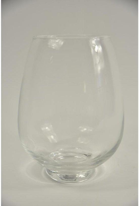 Kruiken En Flessen - Bokaaltje Glas ''ei'' Op Voetje Helder D15 H21cm