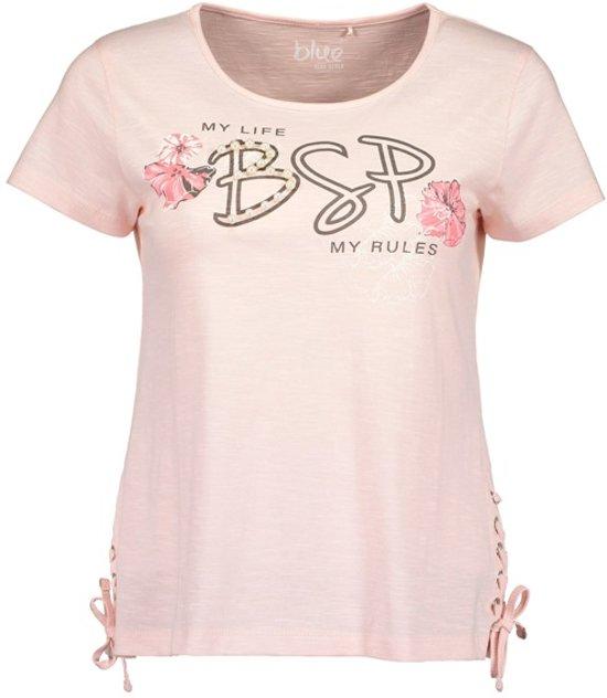 Blue Seven dames shirt roze+veter - maat L