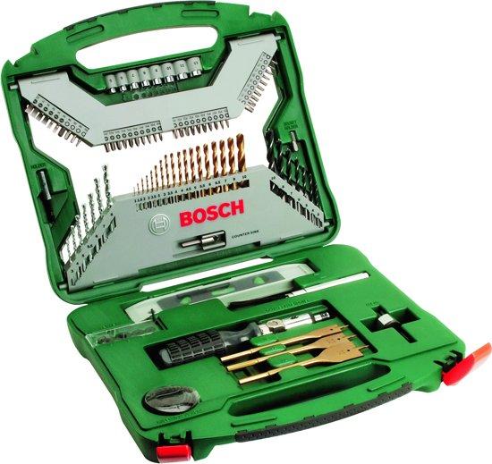 Bosch X-Line borenset - 100-delig - Titanium Plus Serie - Voor hout, metaal en steen