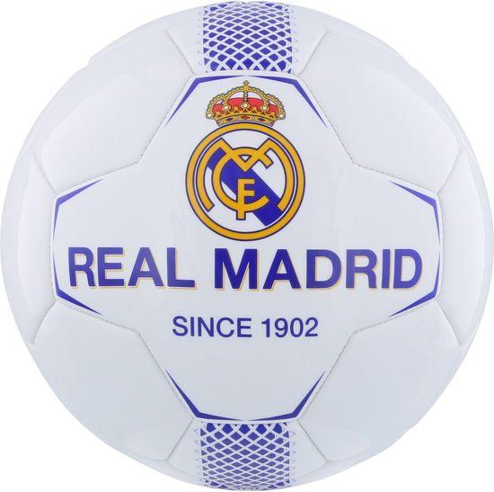 Bal real madrid leer groot wit/blauw (RM7BG1)