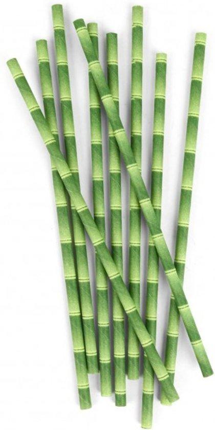 Papieren rietjes bamboe (144 stuks)
