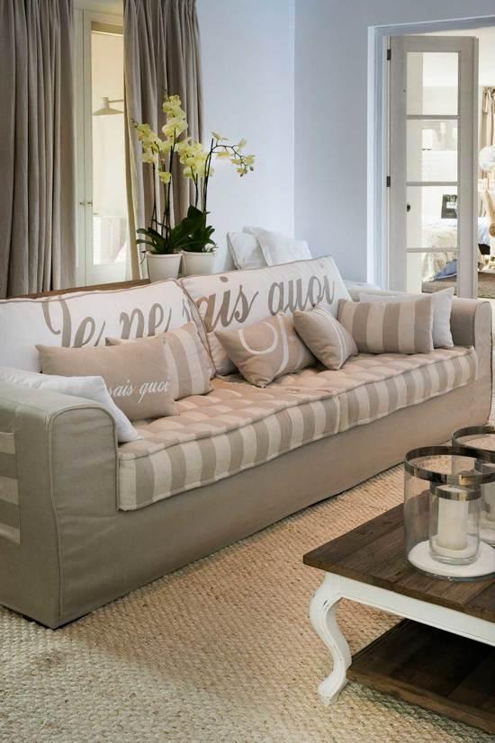 rivi ra maison je ne sais quoi sofa xl 4 zitsbank flax ivoor. Black Bedroom Furniture Sets. Home Design Ideas