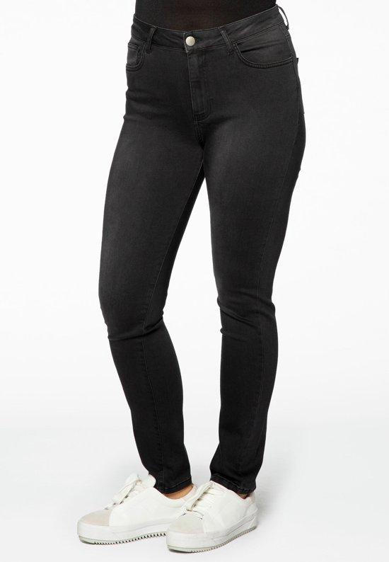 Yoek | Grote maten - dames jeans skinny - zwart